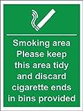 Smoking Area Cigarette Bins Provided 200 X 150Mm Sav