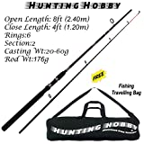 #7: Fishing Rod 8 Feet Portable Carbon Travel Spinning High Sensitive, Durable