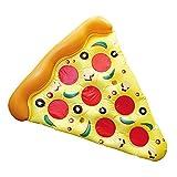 Eurowebb Matratze Schwimmsitz aufblasbar Pizza–Schwimmsitz Teil der Pizza für Meer und Pool Originelle