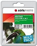 AgfaPhoto APB223SETD nachgefüllt Tintenpatronen 4er Pack