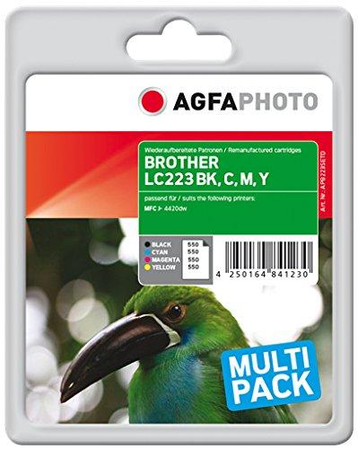 Preisvergleich Produktbild AgfaPhoto APB223SETD nachgefüllt Tintenpatronen 4er Pack