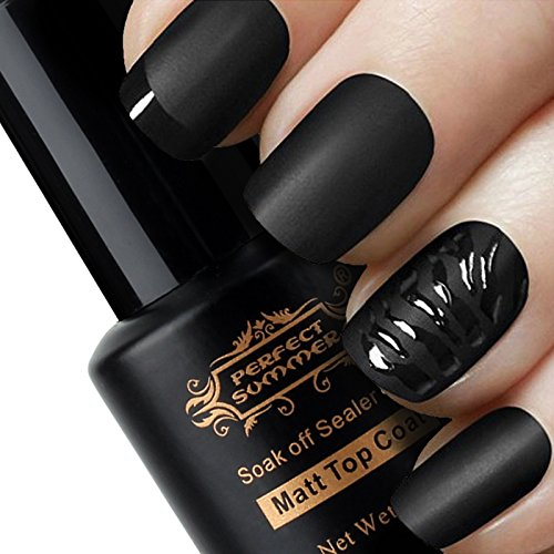 [Top Coat Mat] Détachable&Non Dégraisser Vernis à Ongles Mat Semi Permanent Nail Art French Manucure 8ml