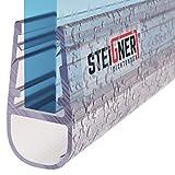 STEIGNER douchestrip, 140cm, glasdikte 6/7/ 8 mm, recht, pvc, vervangende afdichting voor douches, UK07