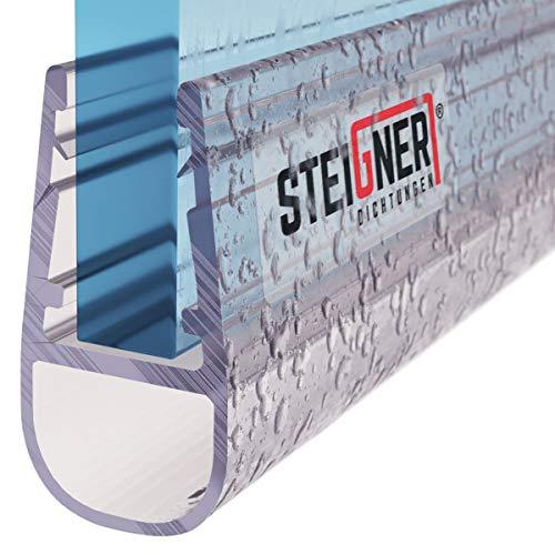 STEIGNER Duschdichtung, 80cm, Glasstärke 3,5/ 4/ 5 mm, Gerade PVC Ersatzdichtung für Dusche, UK06 - 4 Seiten Glas