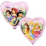 Folienballon Prinzessin Herz rosa bunt Disney Figuren ca. 45 cm ungefüllt (Ballongas geeignet)