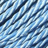 K2-Accessories gewachstes Baumwollband, 0,7mm Twist, C0712/türkis blau–Bulk 50m