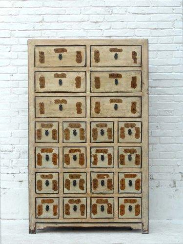Luxury-Park China grosser Medizinschrank 22 Schubladen Pinie (Schränke Antikes China)