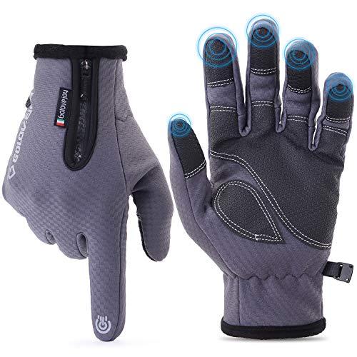 Jsding guanti invernali uomo donna | touch screen guanti termici | guanti invernali antivento impermeabili per smartphone, per moto mtb, bici ciclismo, alpinismo scooter, bici, camping e outdoor