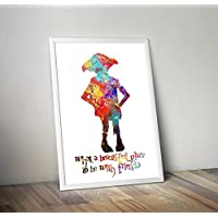 Harry Potter Inspired Watercolour Poster - Dobby - Hogwarts - Quote - Alternative TV/Movie Prints in Various Sizes(Frame Not Included)