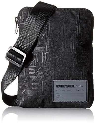 Diesel Herren Rucksack F-DISCOVER CROSS, Schwarz (Black), 2x19.5x15 centimeters (W x H x L) (Gucci Handtaschen Logo)