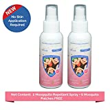 #7: Safe-O-Kid Pack of 2 Mosquito Repellent Spray, 6 FREE Mosquito Patches