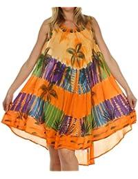 Sakkas Palmier Tie Dye Caftan Robe / Cover Up
