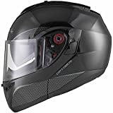 Black Optimus SV Motorrad Roller Klapphelm M Gloss Black