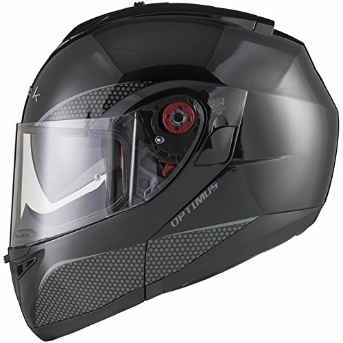 Black Optimus SV Motorrad Roller Klapphelm XS Gloss Black