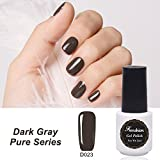Frenshion 5ml Smalto Semipermante Gel Nail Polish UV LED Soak off Grigio Scuro 023