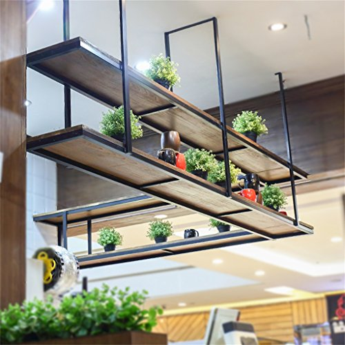 Racchetta di finitura vaso da fiori. rivestimento di parete in legno massiccio retro ristorante in ferro ricezione parete sulla parete scaffale scaffale direzionale scaffale a soffitto scaffale per ripiani sgabello da fiori (dimensioni: 150 * 30 * 80cm) piante in vassoio in vaso