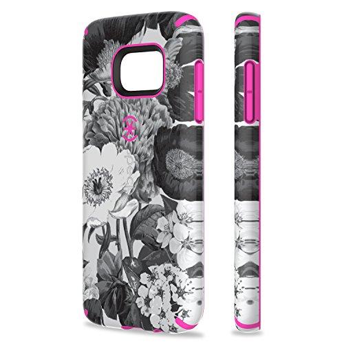 Speck CandyShell Inked Coque pour Samsung Galaxy S7 - Bouquet Rétro Gris/Rose Vif Bouquet Rétro Gris/Rose Vif