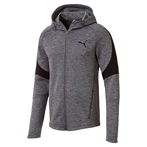 Puma Herren Evostripe FZ Hoody Pullover, Medium Gray Heather, M