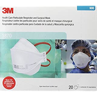 3M 1870 Surgical Mask N95 3M 1870 Surgical Mask N95 Box Of 20