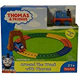 Fisher Price Train Set Toy - Thomas & Friends Around The Track Playset - Includes Engine and Track