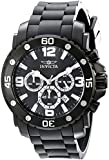 Invicta Pro Diver Men's Quartz Watch with Black Dial Chronograph Display and Black PU Strap 18168