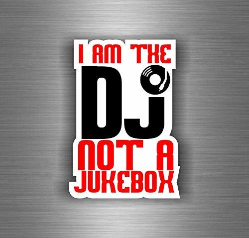 Akachafactory Aufkleber Sticker Auto Motorrad Biker Not Jukebox DJ Offiziellen Platin Musik Platin-musik