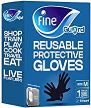 Fine Guard Adult Gloves Livinguard Technology Infection Prevention, Medium Navy Blue