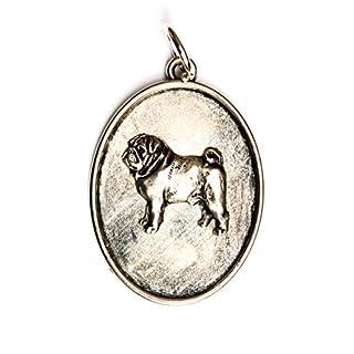 Mops, Hundehalskette, Medaillon, Limitierte Auflage, außergewöhnliches Geschenk, ArtDog