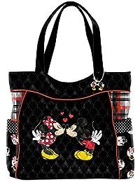 Bradford Exchange Disney Mickey Mouse y Minnie Mouse historia de amor de la mujer bolsa acolchada