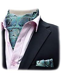 42e8516ae10c Felix   SiLK Homme Garçon Paisley Ascot Cravate Cravates Foulard Écharpe de  Cou Écharpe Carré de