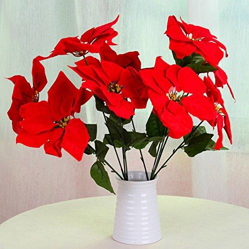 SHIJING Emular Flores 1 Ramo 5 Cabezas Flor Pascua
