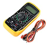 Multimeter, XL830L Digital Multi Tester Auto-ranging Electrical Tester Portable Voltmeter Ammeter Ohmmeter, Digital LCD Multimeter AC/DC Voltage Current Measuring Meter Circuit Checker Tester Buzzer