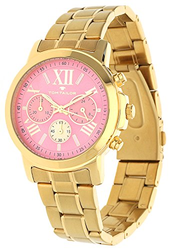Tom Tailor Femmes Montre Chronograph Or 5416404