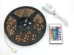 SainStyle SMD5050 RGB LED Strip Bande Eclairage IR Télécommande, 5M