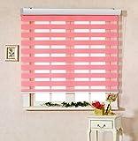 personnalisée à découper, [Winsharp Basic,, L x H 95(pouce)] horizontal Window Shade Store Zebra double volets roulants et traitements, un maximum de 231,1cm de large par 261,6cm de long, polyester & polyester mélangé, 04.pink, W79 x H95 (Inch)