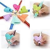 Herramientas de corrección de postura para escribir, para niños, 3 piezas/juego, soporte para lápiz, ayuda de postura