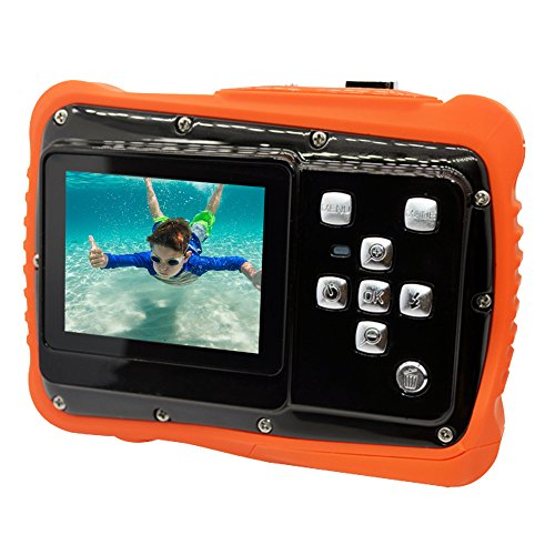 Ming WTDC-5262J 720P 12 MP Caméra Vidéo Numérique Appareil Photo Numérique Étanche Résistant à la Poussière avec Zoom Numérique 5MP 3 Mèters Waterproof Caméra Étanche pour Enfants Jaune