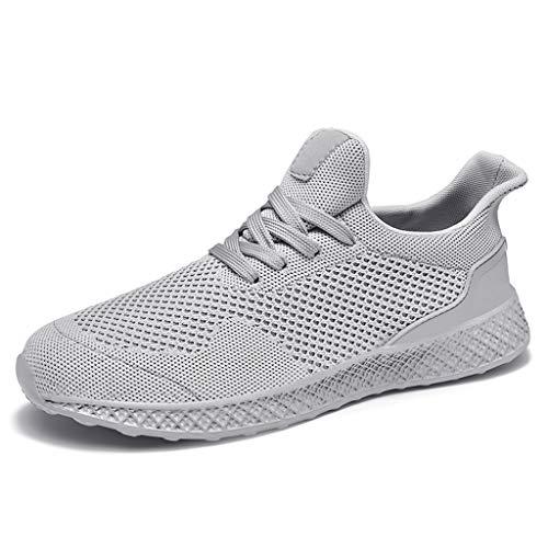 Otfi Mode Unisex Sportschuhe Herren Damen Laufschuhe Sneakers Turnschuhe Fitness Mesh Air Leichte Schuhe Rot Schwarz Weiß