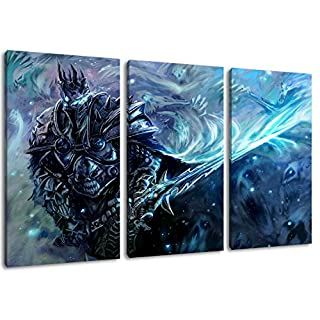 World of Warcraft painting on canvas, 3-piece (Total Size: 47.2