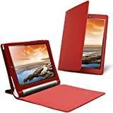 Celicious Notecase W2 Wallet Stand Case for Lenovo Yoga Tablet 10 - Red