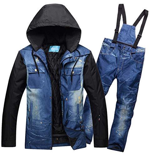 GJBXP Jacket + Pants Set Herren Skianzug Herren Winddicht Wasserdicht Outdoor Wear Big Yards Skifahren Snowboard Super Warm M