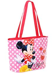 Sac à main - Cabas enfant fille Disney Minnie Rose/rouge 36cm