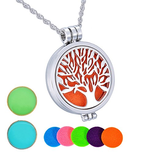 hooami-aromatherapy-luminous-essential-oil-diffuser-necklace-tree-of-life-locket-pendant-with-5-pads