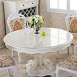 LHL-ZQ Runder Tisch Tischdecke Wasserdicht PVC Scrub Weichglas Transparente Esstisch Matte Crystal Platte Hotel Tischdecke Plastic Couchtisch Mat (farbe : # 1, größe : 100cm)