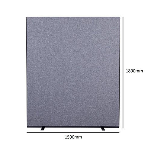 Panelwarehouse 1500W x 1800H Office Scree / Partition Grey Woolmix
