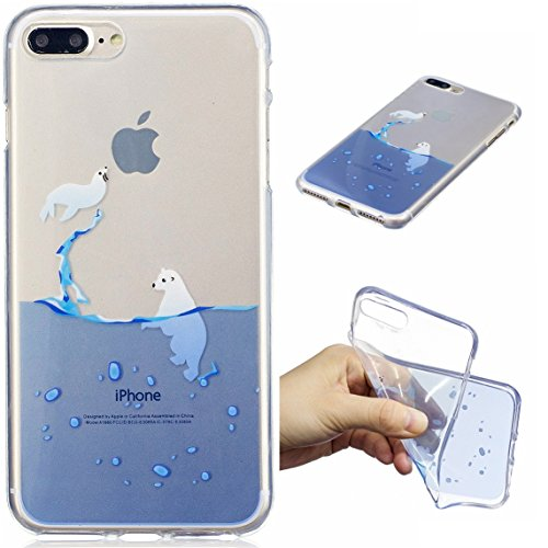 iPhone 7 Plus / iPhone 8 Plus Coque, Voguecase TPU avec Absorption de Choc, Etui Silicone Souple Transparent, Légère / Ajustement Parfait Coque Shell Housse Cover pour Apple iPhone 7 Plus 5.5 (Chat no Sceau