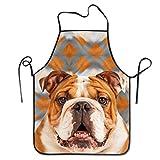Funny DIY Kochschürze, Bulldogge und Galaxy, wasserdicht, für Koch, Bäcker, Server und Grillen, für Männer oder Frauen, 50,8 x 71,1 cm