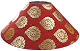 "RDC 13"" Round Red with Golden Designer Lamp Shade for Table Lamp or Floor Lamp"