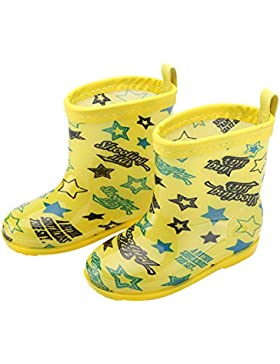 Luerme Botas de Agua Para Niños Botas de Lluvia Antideslizante Infantiles Zapatos Para Los Cabritos de Dibujo...