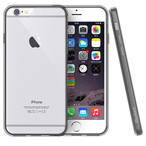 iPhone 6S Custodia - iHarbort® protettiva iPhone 6 6S il Custodia caso della copertura del respingente con assorbimento degli urti Bumper e Anti-Graffi Cancella pannello posteriore Con la protezione d telaio grigio